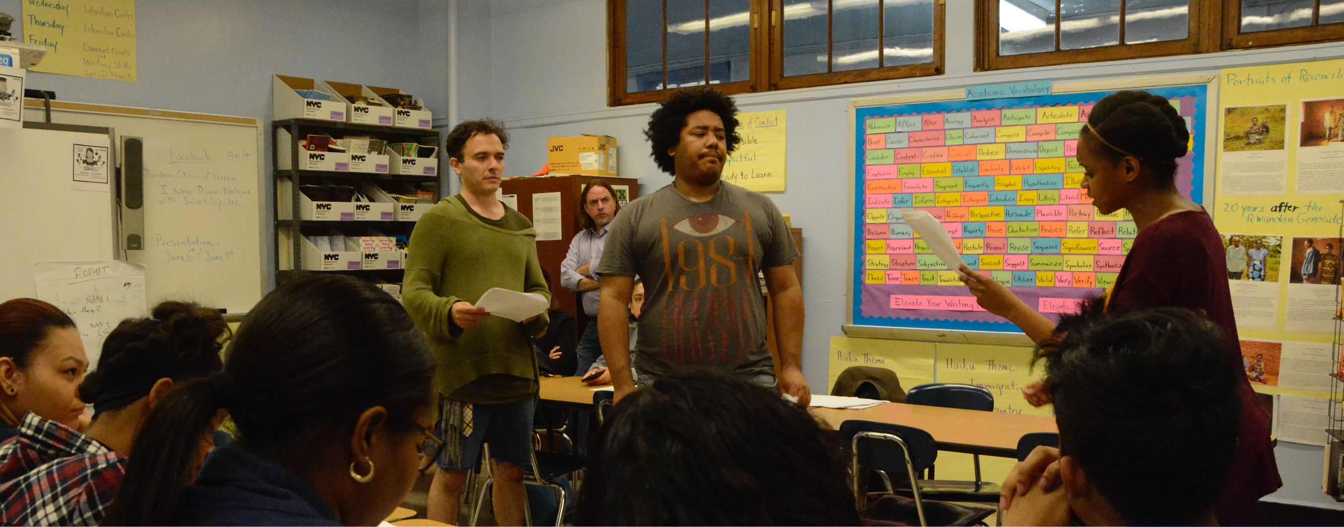 <p>Epic Theatre Ensemble, in partnership with the Bronx High School for Writing and Communications Arts, presented the conclusionof the Human RightsProject: Genocide. During 20 sessions, Epic&#8217;s Teaching Artists, work with high-school students developing a 5-minute original play that explores the social impact of historical events associated with human rights. This [&hellip;]</p>